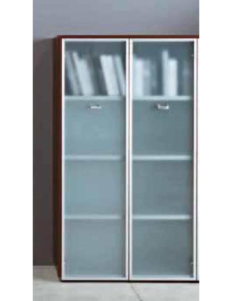 Libreria Con Ante Di Vetro.Libreria Da 90 Con Ante Vetro